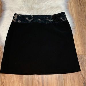 Vintage Black Mini Skirt Asian Design90s Y2K